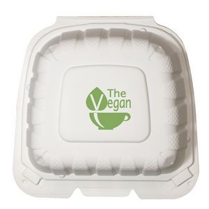 "6""x6"" Eco-Friendly Takeout Container - The 500 Line"