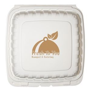 "9""x9"" Eco-Friendly Takeout Container - The 500 Line"